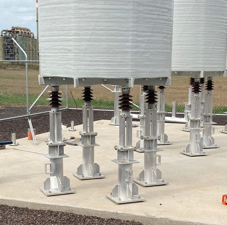 Aluminium stands that have been pulse welded